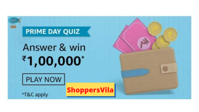Photo of Amazon Prime Day Quiz Answers – Play & Win Rs.100000