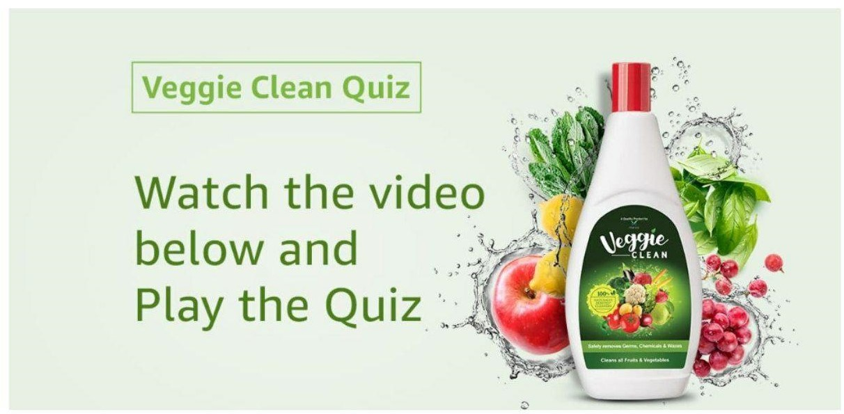 Amazon Veggie Clean Quiz Answers - Play & Win Rs.10,000