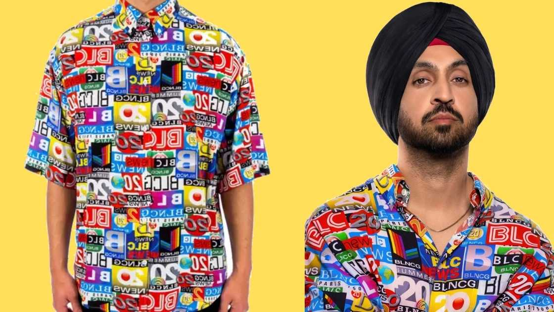 Any guess? How much Diljit Dosanj's Printed Shirt costs?