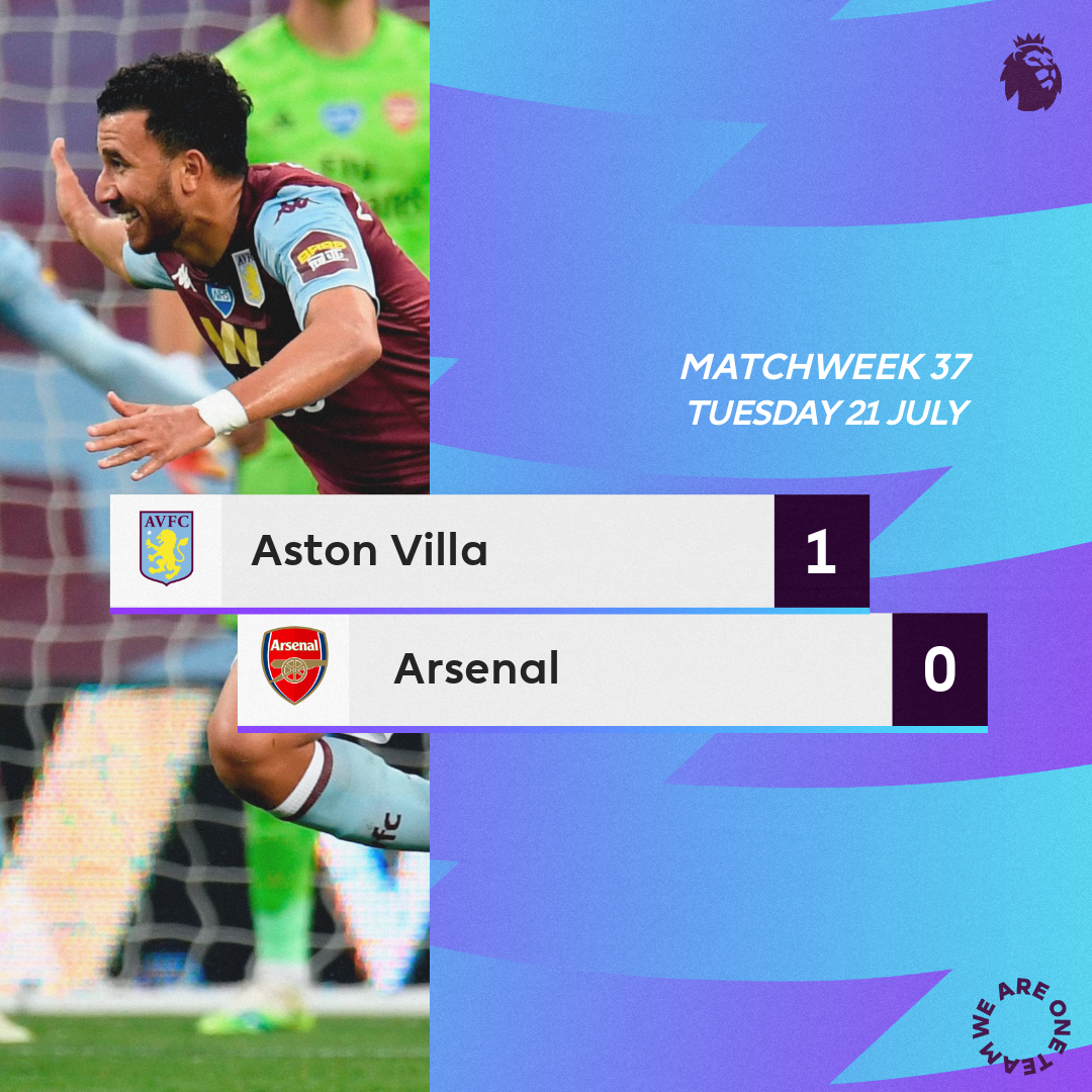 Aston Villa vs Arsenal - Villa climb Out of Relegation Zone as Trezeguet leads them to Victory