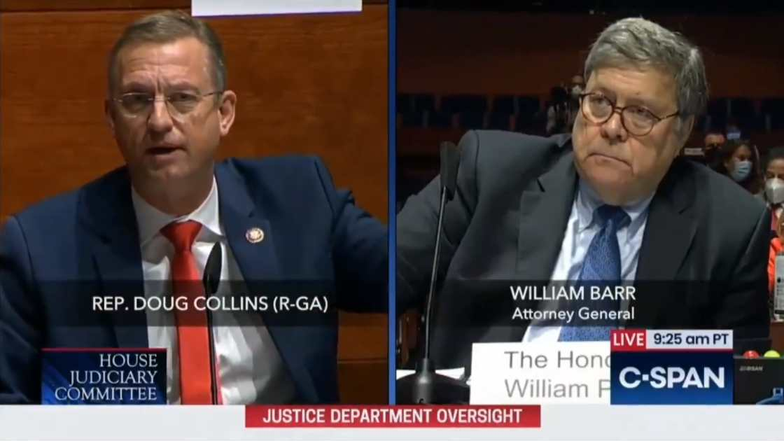Attorney General William Barr 'not sure' if Congress Would Stand Up To A Potential Mob Threatening The U.S. Capitol
