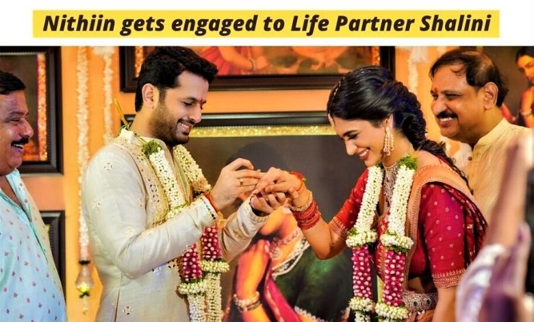 Nithiin & Shalini Wedding Engagement, Nithiin gets engaged to Life Partner Shalini in Hyderabad