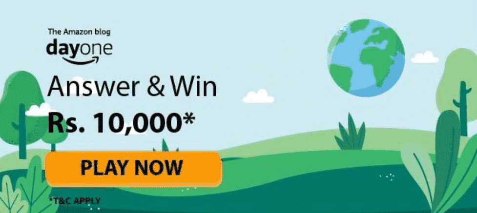 The Amazon Blog Day One Quiz Answers - Play & Win Rs.20,000