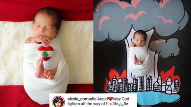 Photo of Heartwarming pics of Beirut's 'miracle baby' George take social media by storm
