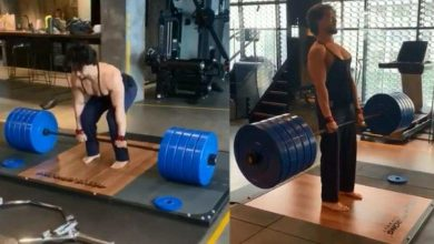 Photo of Tiger Shroff deadlifts 220 kg weight, right here's how Disha Patani, Krishna Shroff's boyfriend Eban Hyams reacted – bollywood