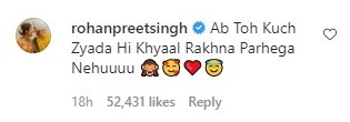 Rohanpreet Singh's Comment On Neha's Baby bump picture