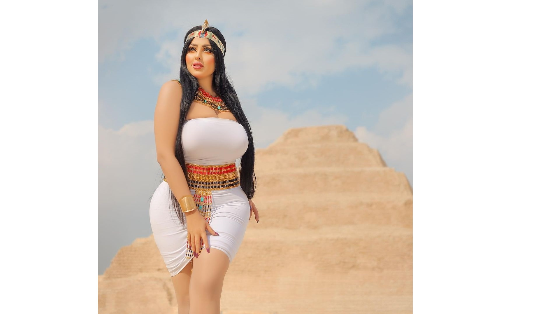 Salma Al Shimi Photos - Images For Which Egyptian Model Get Arrested Over Pyramid Photoshoot